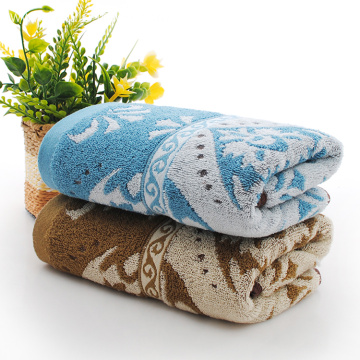 Flower Pattern Yarn Dyed Hand Towels