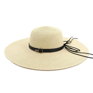 Beanie straw hat summer beach straw cap hat