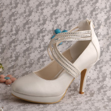 Online Vintage Bridal Shoes with Zipper