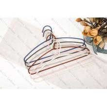 Stronger Shoulder Fabric Wrapped Metal Clothes Hanger
