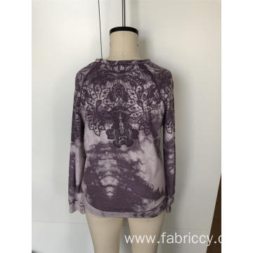 Lace tie-dye long sleeves for ladies