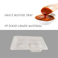 Custom clear plastic pp sauce blister divided tray
