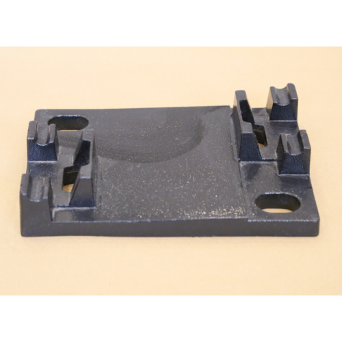 Iron tie plate for metro fastener