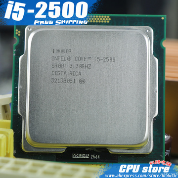 lntel core I5 2500 i5-2500 CPU Processor Quad-Core(3.3Ghz /L3=6M/95W) Socket LGA 1155 Desktop CPU(working 100% Free Shipping)