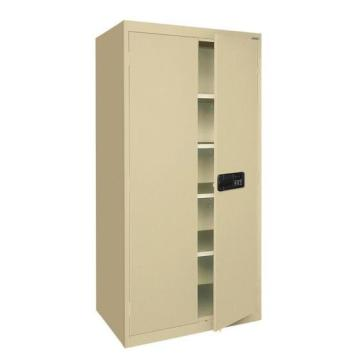 All Beige Adjustable Shelves Metal Cupboard