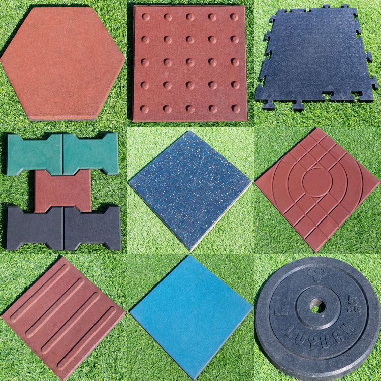 rubber flooring tiles for gym