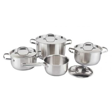8pcs cookware set with flat shape lid