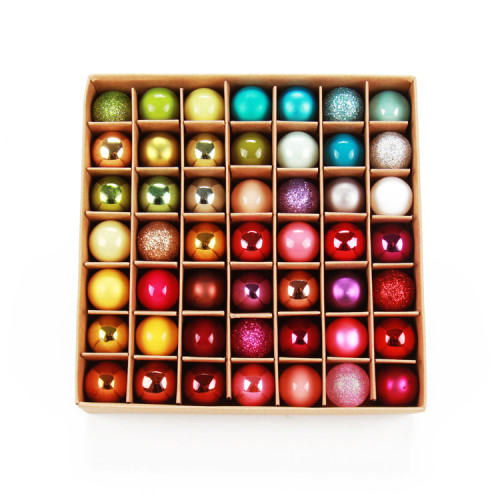 Colored mini glass ball baubles Christmas ornaments