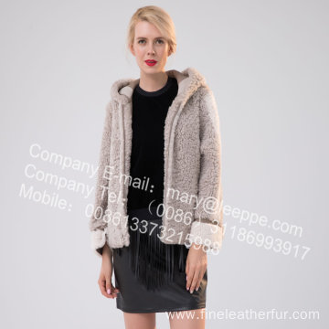 Short Merino Shearling Jacket For Lady