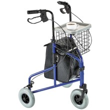 Fully height-adjustable 3 wheel Rollator