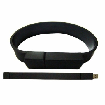 Embossed silicone wristband USB flash drive