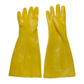 Yellow gloves dipped in rubber flannelette 45cm
