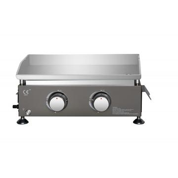 2 Burner Table Top Stainless Steel Gas Griddle