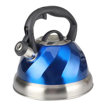 Stainless Steel Whistling Tea Kettle Bule