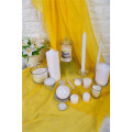 White Christmas Candle Paraffin Wax for Wedding