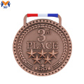 Custom diecast bronze sports star medals