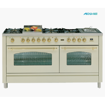 100cm Double Electric Oven 6 Burner