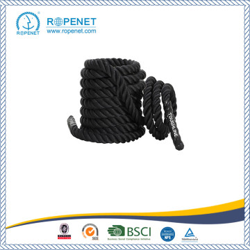 Black Undulation Single Tricep Workout Rope