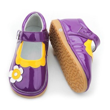 Flower Purple Squeaky Shoes