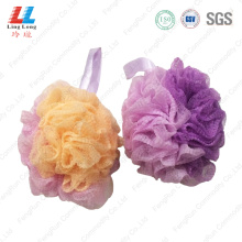 Soft loofah charming body sponge ball