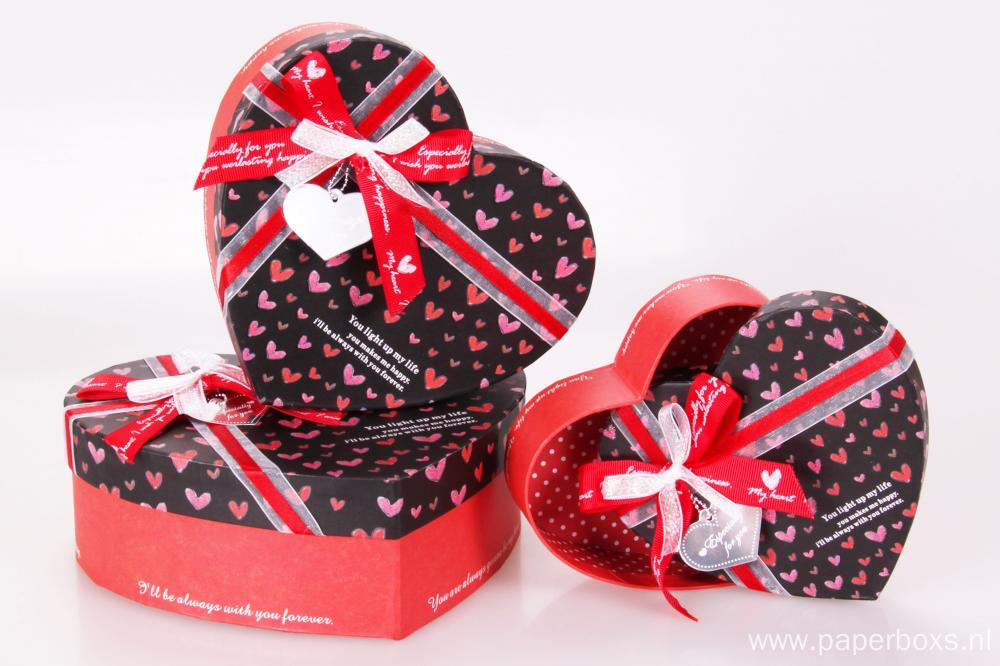 Heart Wedding Gift Box With visible Heart Window