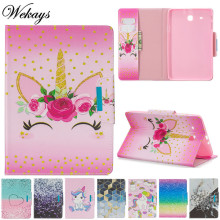 Coque For Samsung Tab E 9.6 T560 Cartoon Unicorn Leather Fundas Case For Samsung Galaxy Tab E 9.6 T560 T561 Tablet Cover Cases