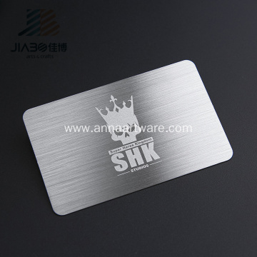 Customized Stainless Credit Card Laser Metal Business Card