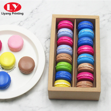 Macaron Boxes Packaging Kraft Paper with Clear Window
