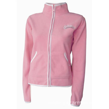 100% polyester lady's  polar fleecing  jacket