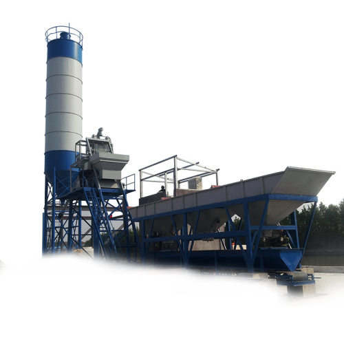 HZS75 fixed concrete batching plant factory direct
