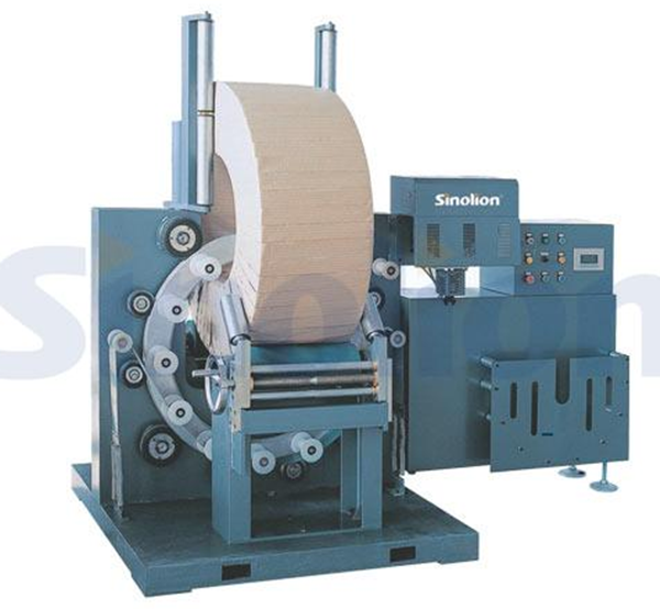 Ring wrapping machine for ring shape products