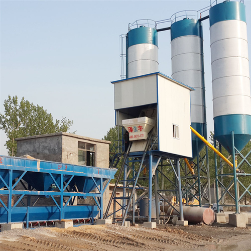 Fixed type fully 25m3/h concrete batching plant