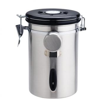 Stainless steel Airtight canister with valve