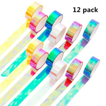 HOLOGRAPHIC RAINBOW COLORED MASKING TAPE-0