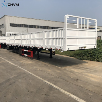 4Axles 70t Stake Cargo Grid Position Semi Trailer