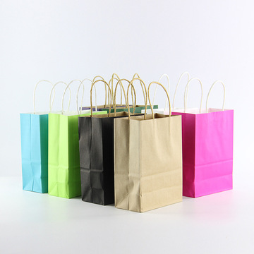 120g Kraft Paper Bag With Twisted String Handle