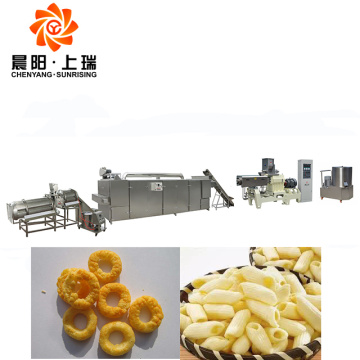 Snack food extrusion machine extruder puffed snacks machine