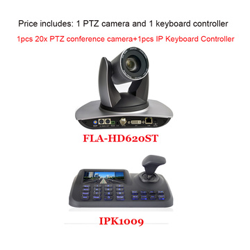 2MP 20x PTZ 1080p Video Conference Camera with Simultaneous DVI and IP Streaming Plus 3 Axis rj45 Keyboard Controller