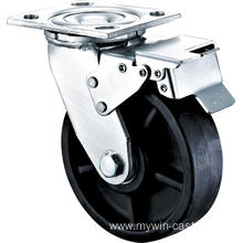 5'' Heavy Duty Plate Swivel High Temperature Caster With Brake