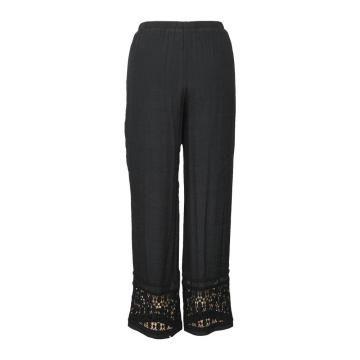 Casual Wide Leg Pants for Women Chiffon Trouser