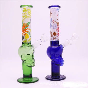 Portable glass bongs smoking pipes in distinctive shape