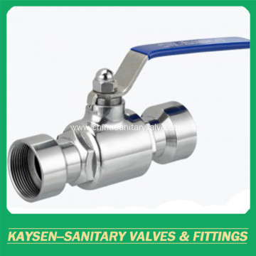 Sanitary direct way ball valves female thread end