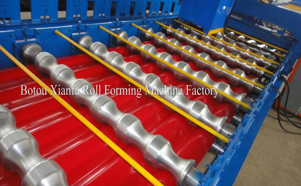 Color Metal Sheet Roof double roll forming machine