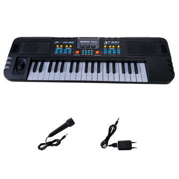37 Keys Electronic Piano Musical Instrument Toy with Microphone Multifunctional Electronic Organ for Children Boys Girls