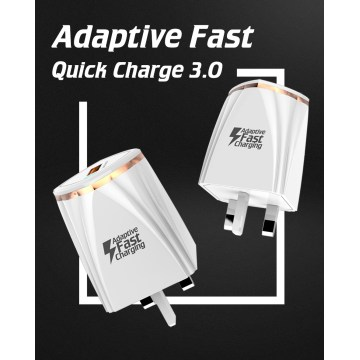 Quick Charge QC3.0 Adapter USB 2 Port Desktop