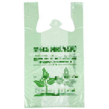 Colorful T-shirt Bag with Printing Disposable Bag