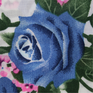 Flower Printing With Rayon Plain Fabric