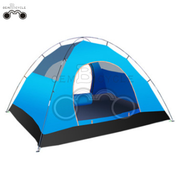 double layer blue camping tent for 3-4 person