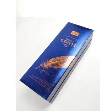 Luxury Leather and Paperboard Wine Bottle Packaging Box