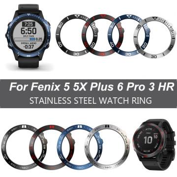 Ring Case Protection Cover Bezel For Garmin Fenix 5 5X Plus 6 pro 6 sapphire Smart Bracelet Bezel Ring Anti Scratch Metal Cases